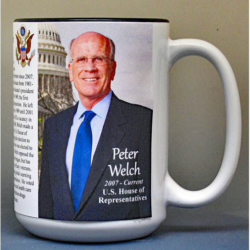 Peter Welch biographical history mug.