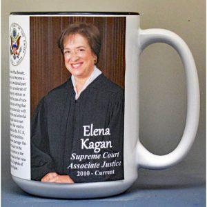 Elena Kagan, Supreme Court Justice biographical history mug.