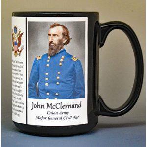 John McClernand, Major General Union Army, US Civil War biographical history mug.