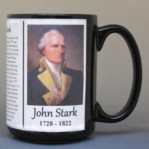 John Stark, Revolutionary War general biographical history mug.
