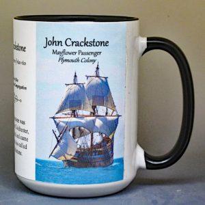 John Crackstone, Mayflower passenger biographical history mug.