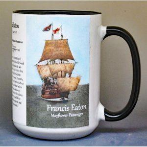Francis Eaton, Mayflower passenger biographical history mug.