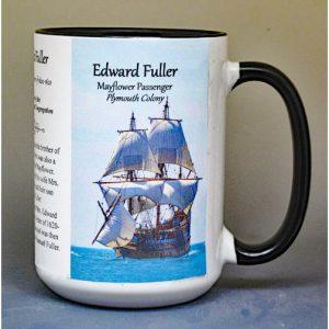 Edward Fuller, Mayflower passenger biographical history mug.
