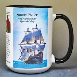 Dr. Samuel Fuller, Mayflower passenger biographical history mug.