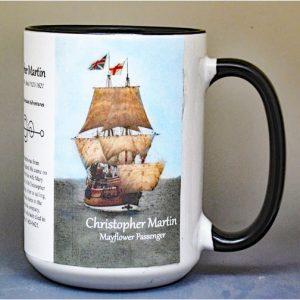 Christopher Martin, Mayflower passenger biographical history mug.