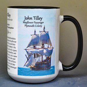 John Tilley, Mayflower passenger biographical history mug.
